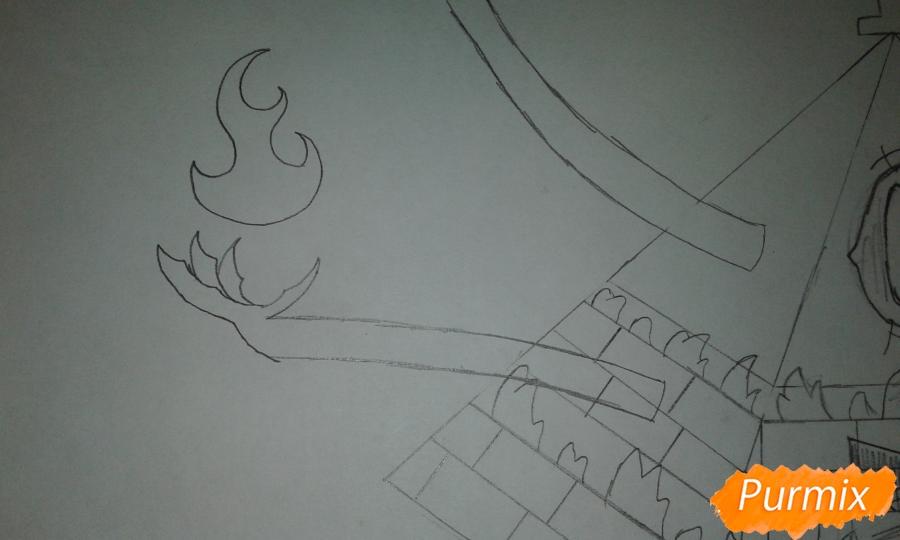 Рисуем Билла Шифра из Гравити Фолз карандашами - шаг 8
