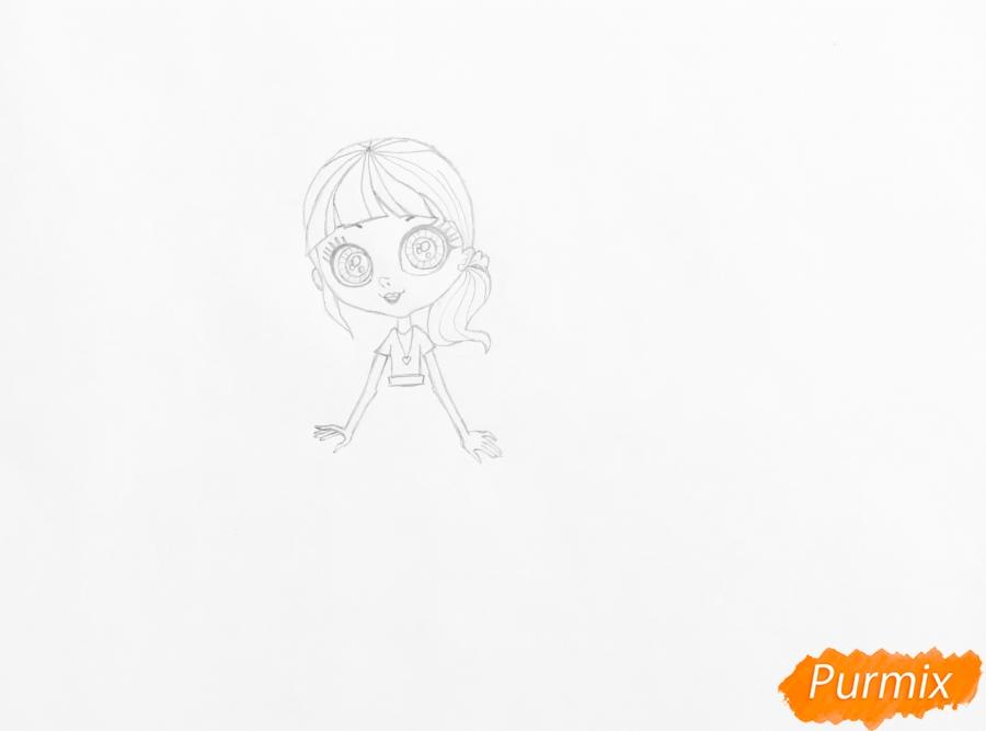 Рисуем Блайс Бакстер из мультфильма My Littlest Pet Shop - шаг 3