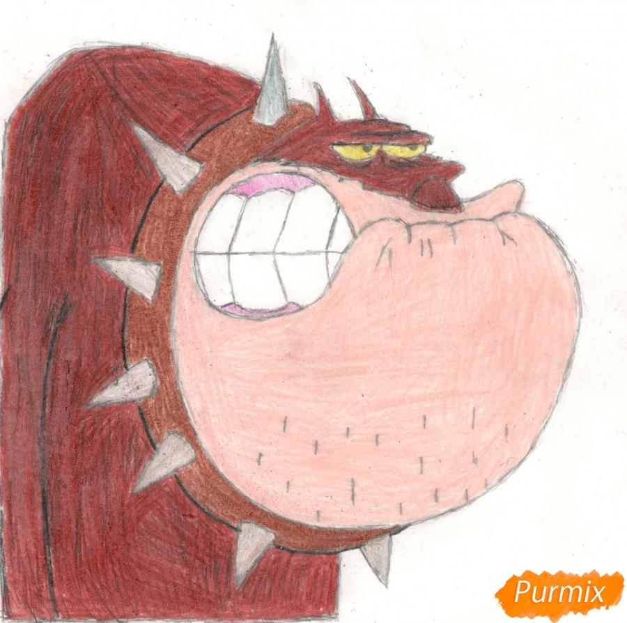 Рисуем Бульдога Боба из мультисериала Огги и Тараканы - шаг 11