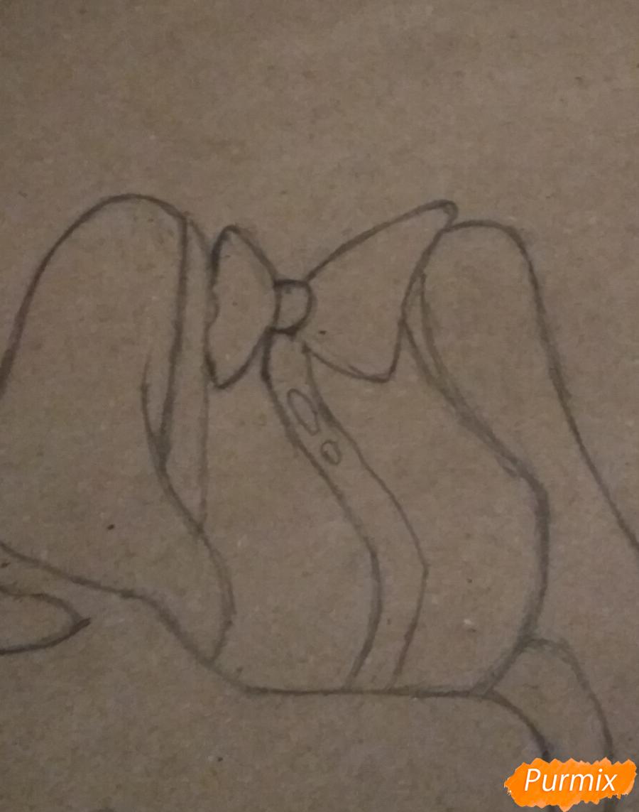 Рисуем Чарли из Отель Хазбин карандашами - шаг 3
