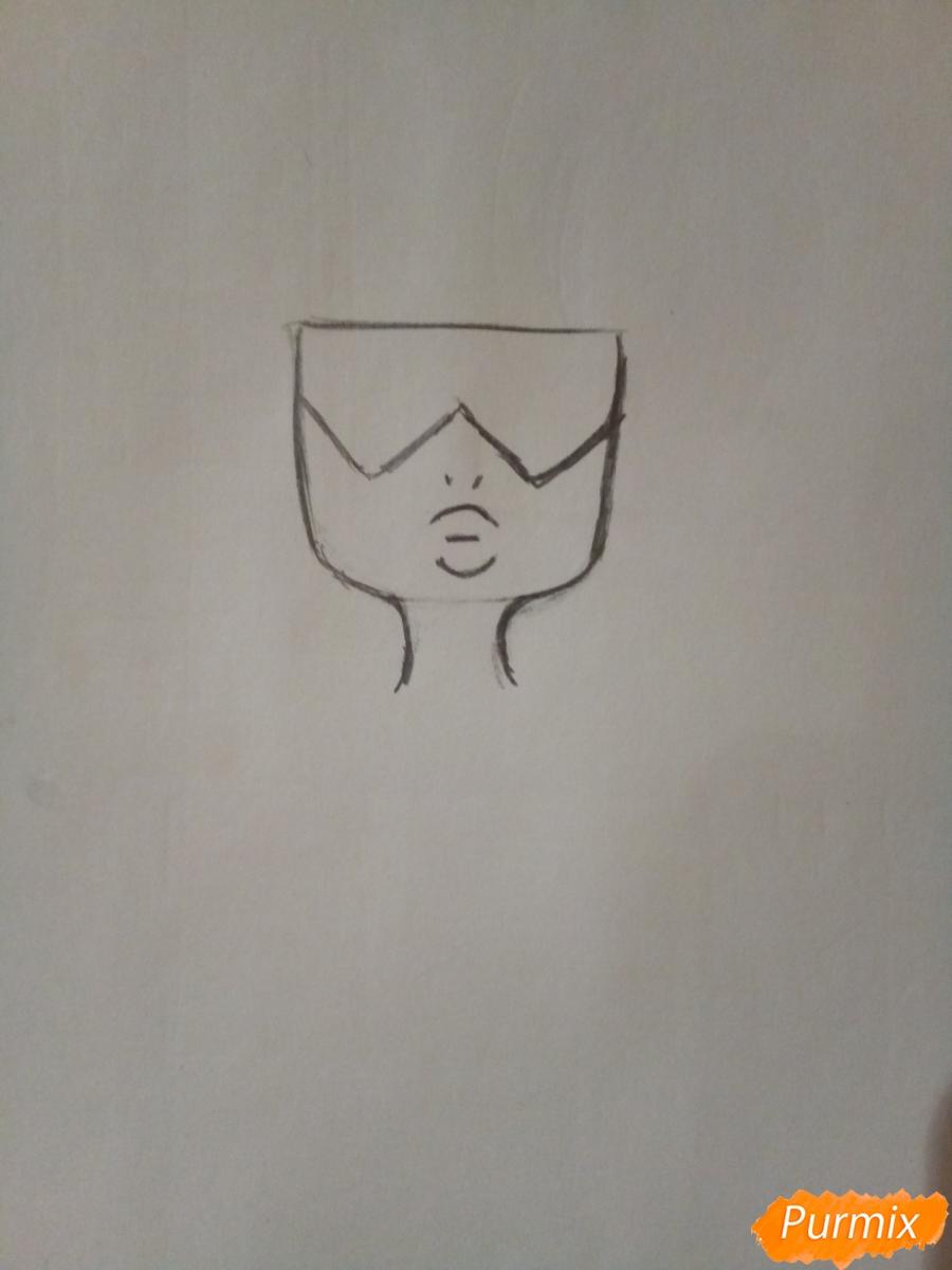 Рисуем Гранат из Вселенная Стивена  карандашами - шаг 1