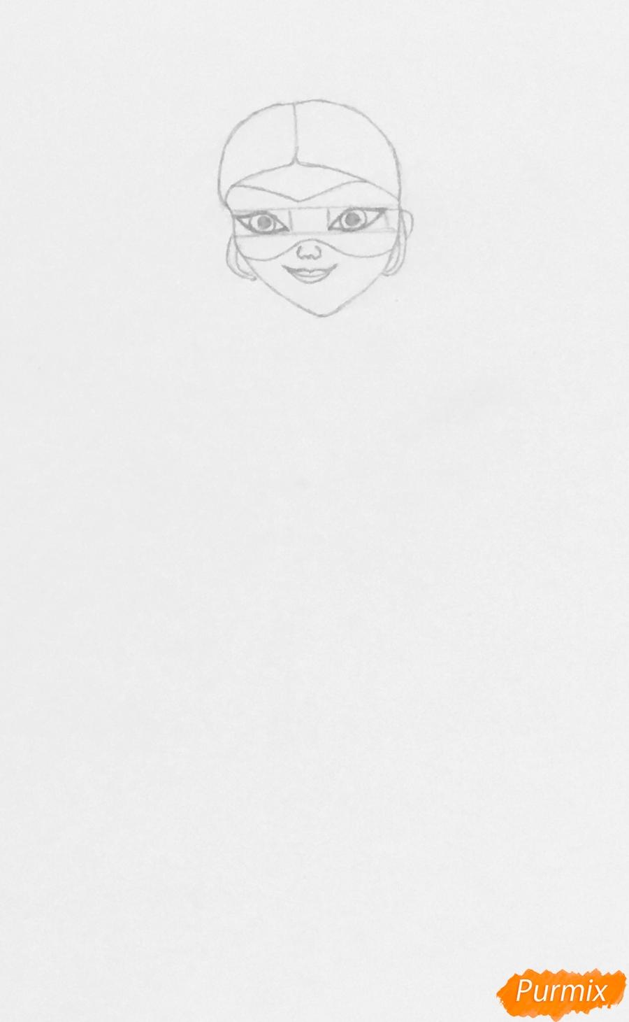 Рисуем Хлою пчелу из мультфильма Леди Баг и Супер Кот - шаг 2