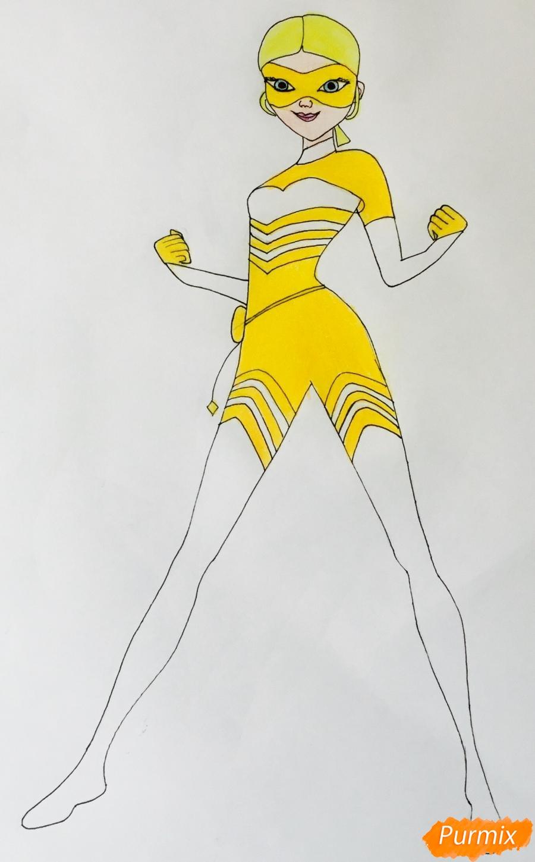 Рисуем Хлою пчелу из мультфильма Леди Баг и Супер Кот - шаг 6