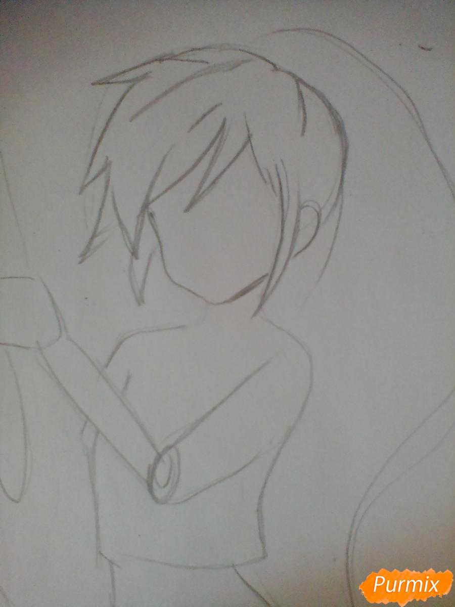 Рисуем и раскрасить Rainbow Dash в аниме стиле - шаг 2