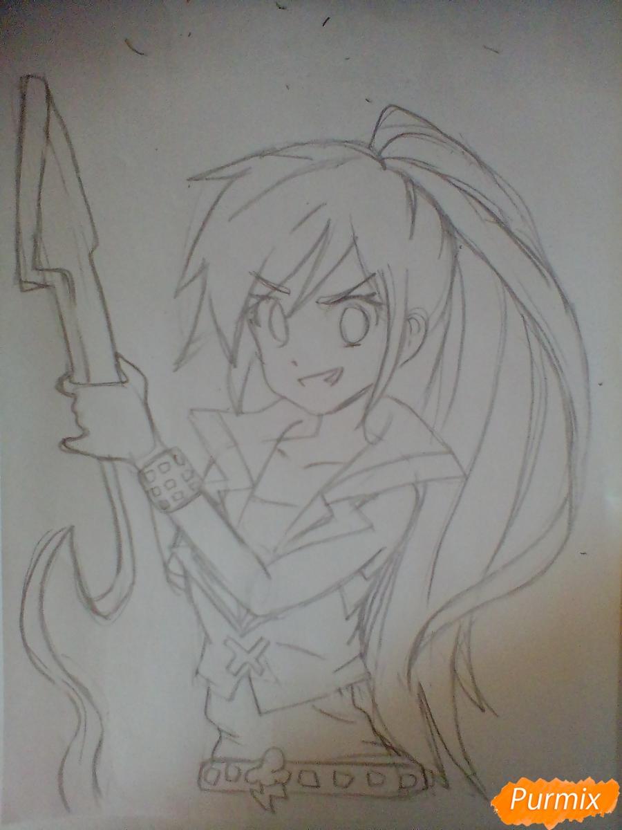 Рисуем и раскрасить Rainbow Dash в аниме стиле - шаг 5