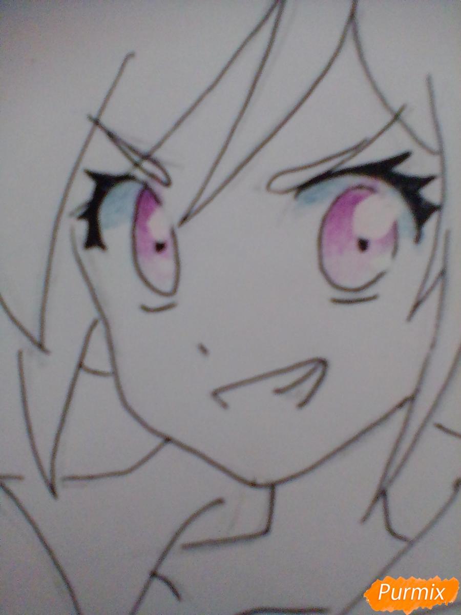 Рисуем и раскрасить Rainbow Dash в аниме стиле - шаг 7