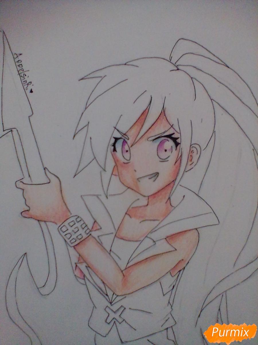Рисуем и раскрасить Rainbow Dash в аниме стиле - шаг 8