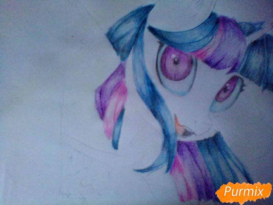 Рисуем и раскрасить Twilight Sparkle - шаг 14