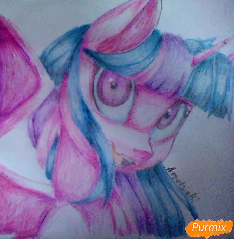 Рисуем и раскрасить Twilight Sparkle - шаг 15