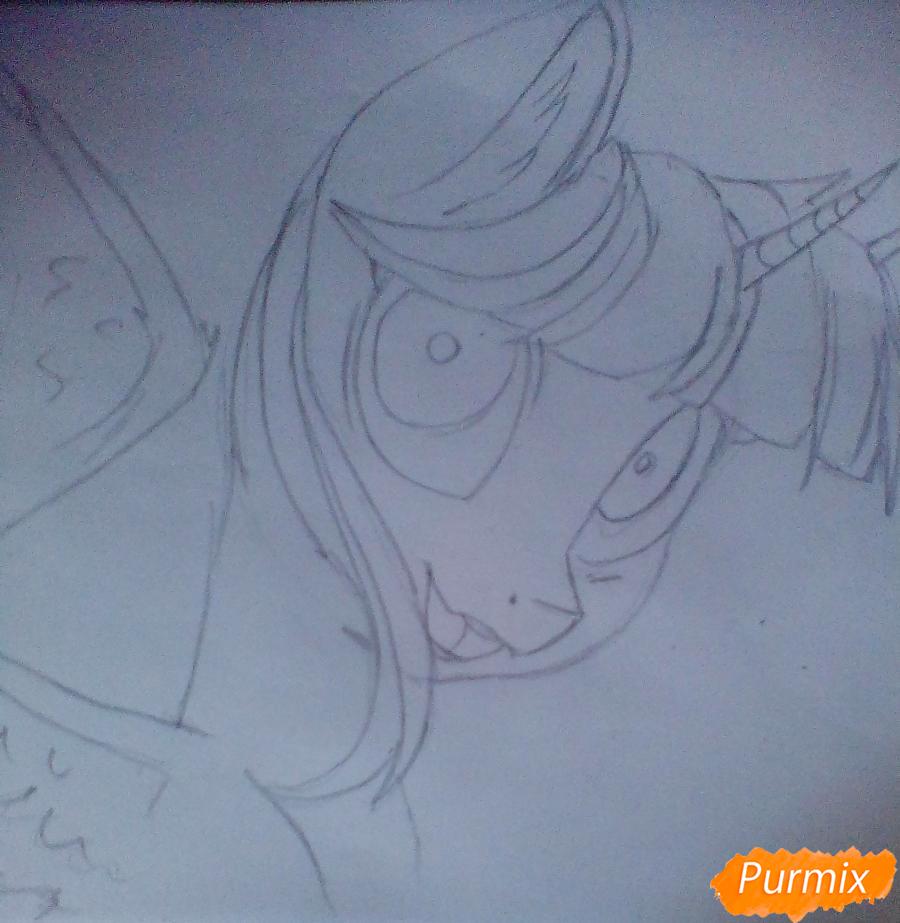 Рисуем и раскрасить Twilight Sparkle - шаг 5