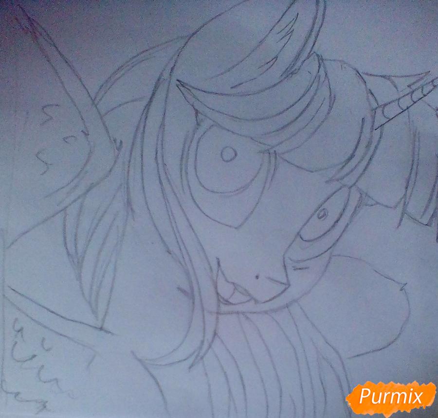Рисуем и раскрасить Twilight Sparkle - шаг 6