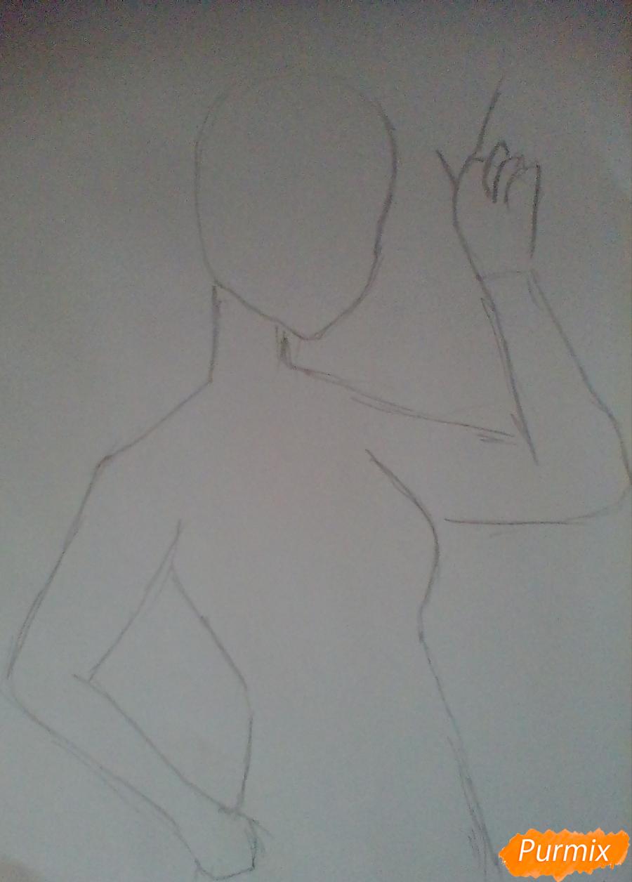 Рисуем и раскрасить Эплджек в виде человека - шаг 1