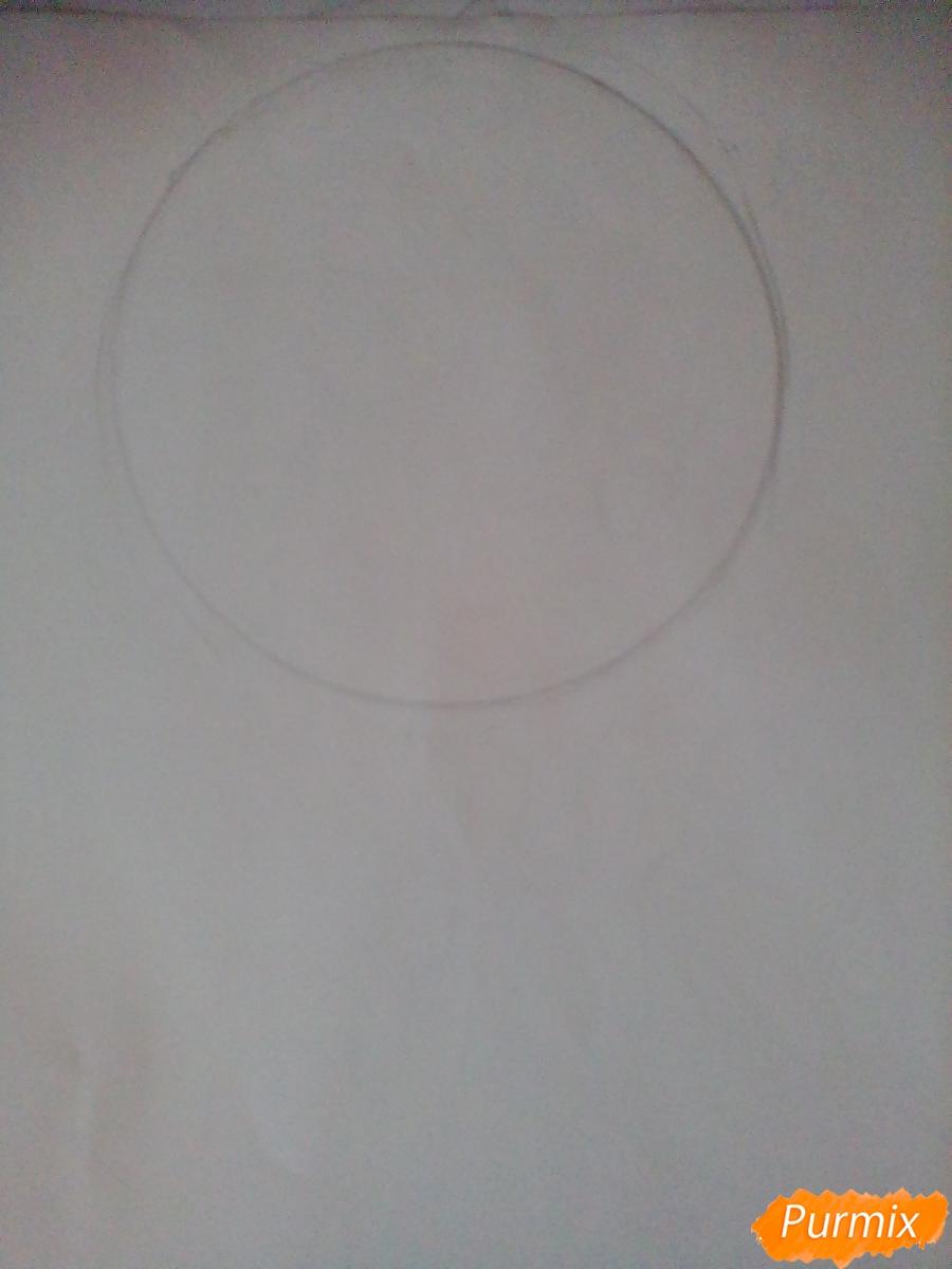 Рисуем и раскрасить Мейбл в стиле чиби - шаг 1