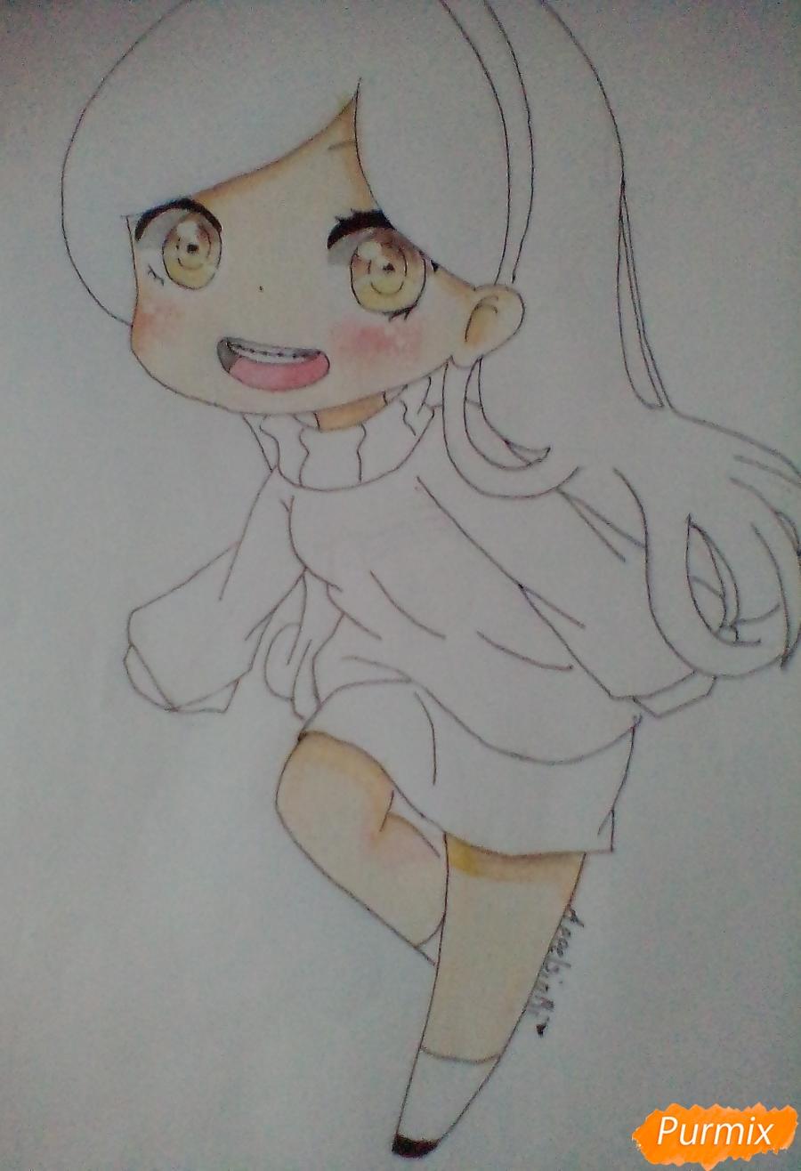 Рисуем и раскрасить Мейбл в стиле чиби - шаг 10