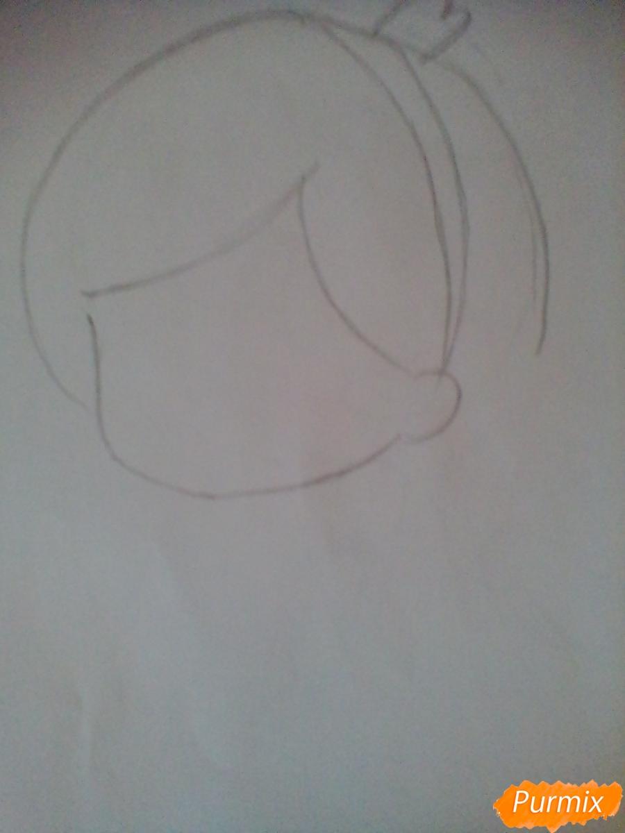 Рисуем и раскрасить Мейбл в стиле чиби - шаг 2