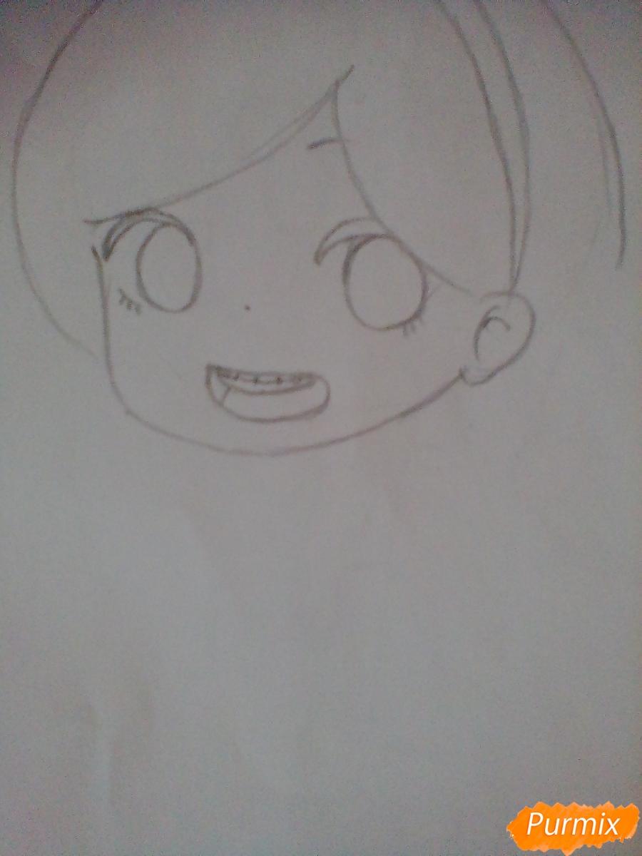 Рисуем и раскрасить Мейбл в стиле чиби - шаг 3