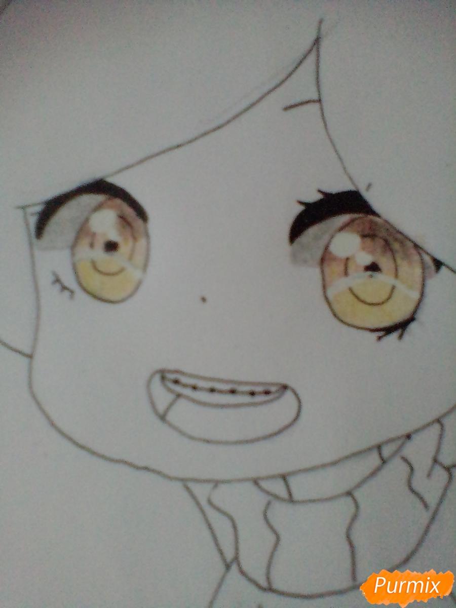 Рисуем и раскрасить Мейбл в стиле чиби - шаг 9