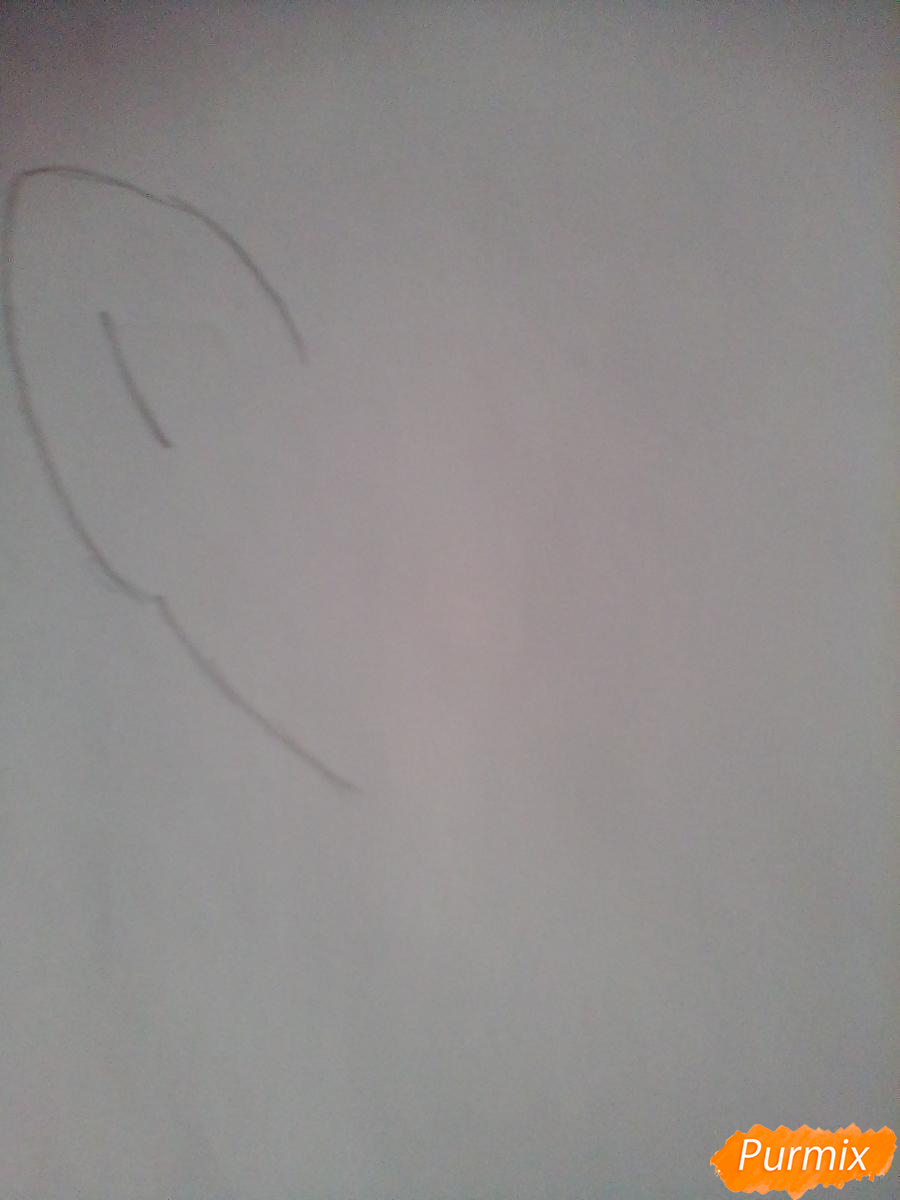 Рисуем и раскрасить портрет принцессы Луны - шаг 1