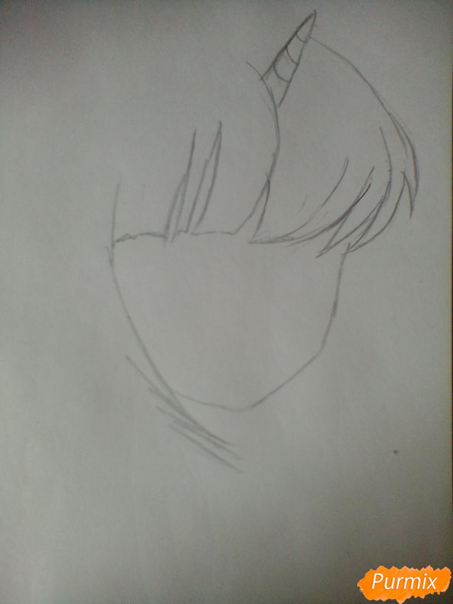 Рисуем портрет Сумеречной Искорки - шаг 1