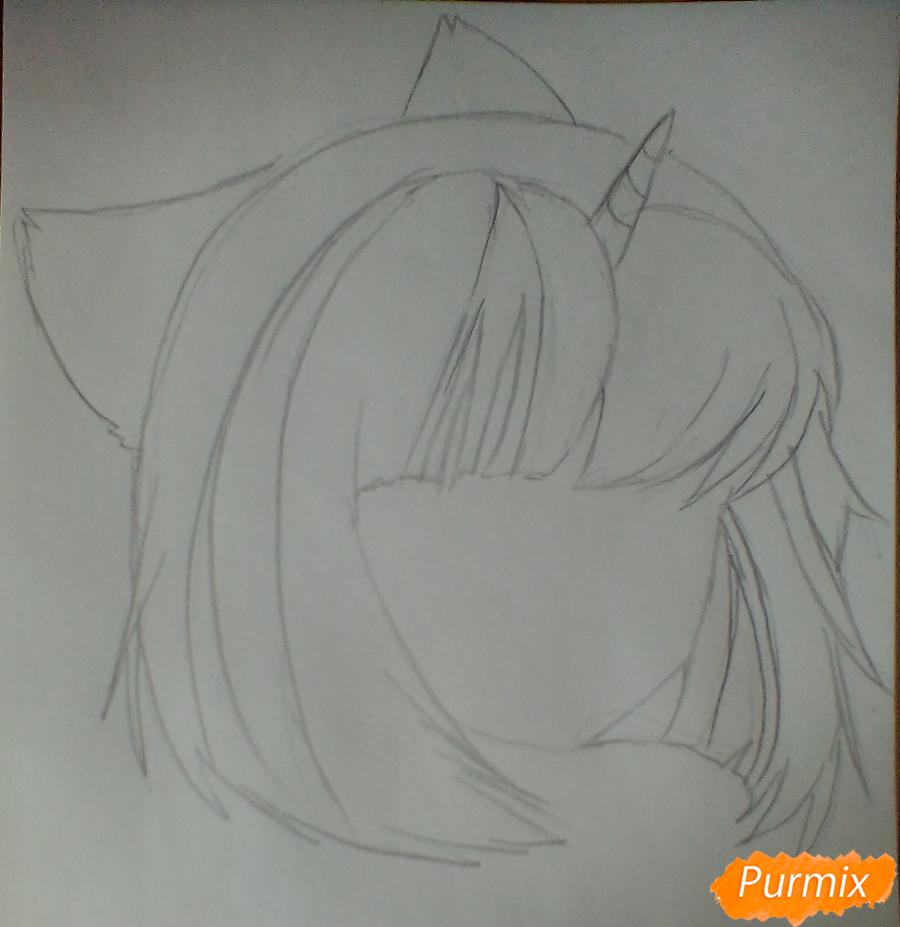 Рисуем портрет Сумеречной Искорки - шаг 2