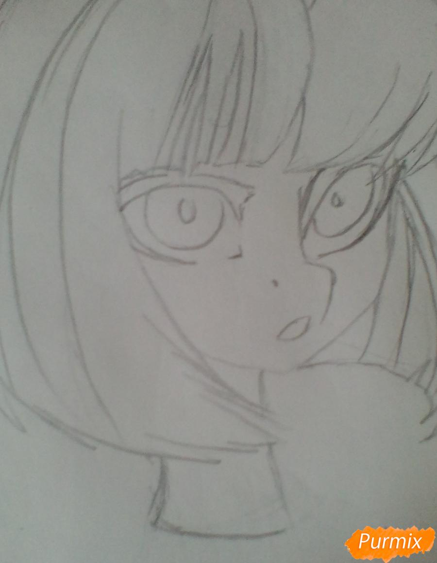 Рисуем портрет Сумеречной Искорки - шаг 3