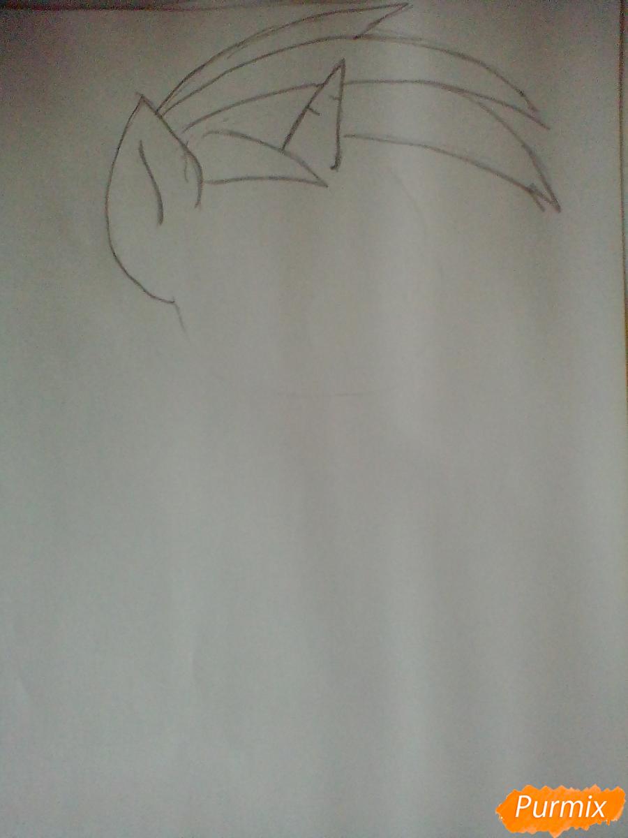 Рисуем и раскрасить Винил Скрэтч с диском - шаг 2