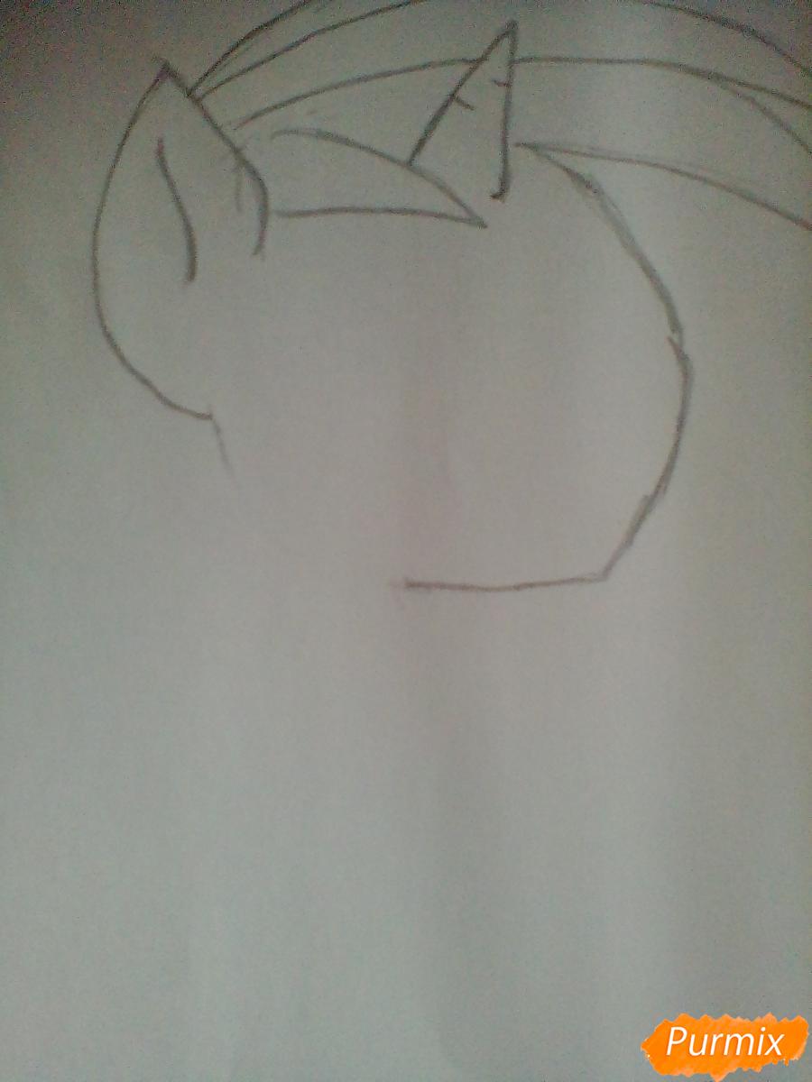 Рисуем и раскрасить Винил Скрэтч с диском - шаг 3