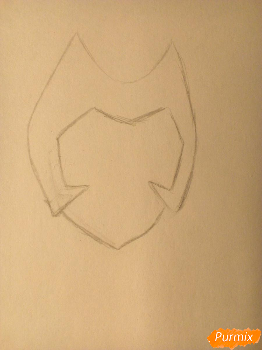 Рисуем Катру из мультфильма Ши-Ра и непобедимые принцессы - шаг 1