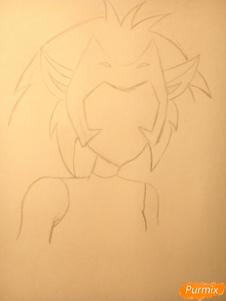 Рисуем Катру из мультфильма Ши-Ра и непобедимые принцессы - шаг 5