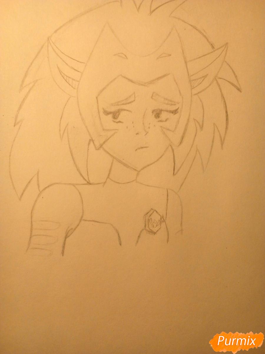 Рисуем Катру из мультфильма Ши-Ра и непобедимые принцессы - шаг 8