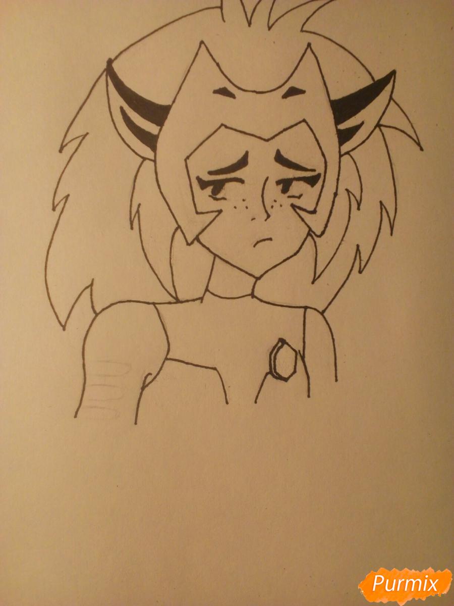 Рисуем Катру из мультфильма Ши-Ра и непобедимые принцессы - шаг 9