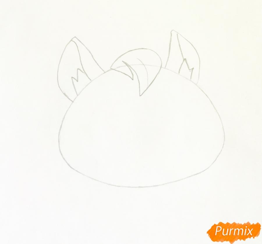Рисуем кенгуру по имени Peachy из мультфильма My Littlest Pet Shop - шаг 2