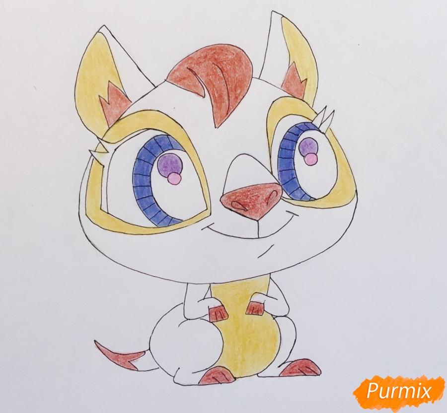 Рисуем кенгуру по имени Peachy из мультфильма My Littlest Pet Shop - шаг 6