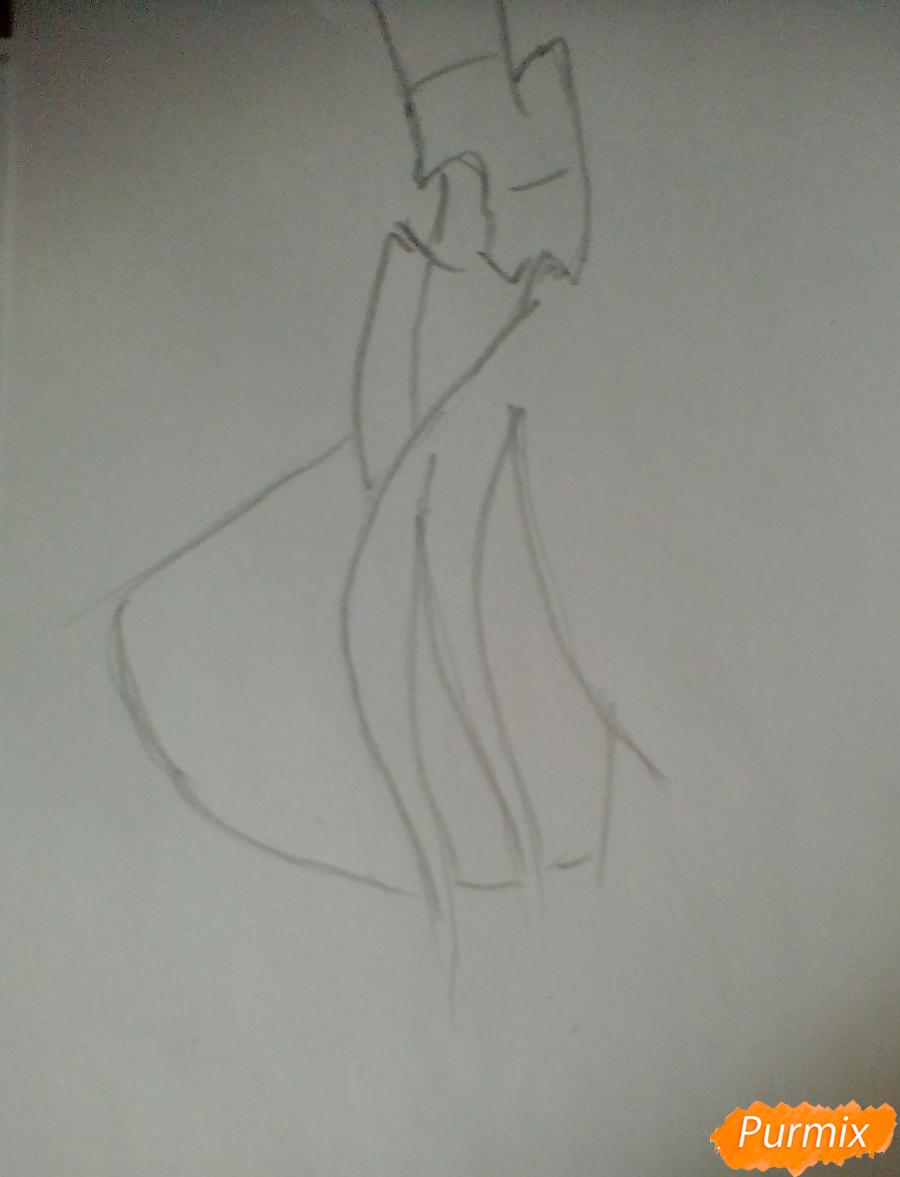 Рисуем Королеву Кризалис из мультфильма Дружба-это чудо - шаг 1