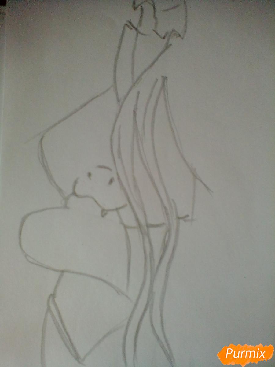 Рисуем Королеву Кризалис из мультфильма Дружба-это чудо - шаг 2