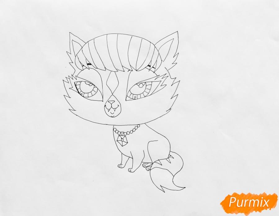 Рисуем кошку Shilah из мультфильма LPShop  . - шаг 5