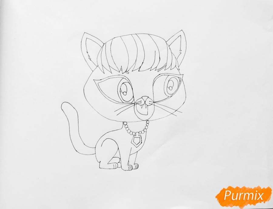 Рисуем кошку Делилу Барнслей из мультфильма My Littlest Pet Shop - шаг 5
