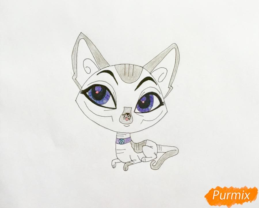 Рисуем кошку Каиро из мультфильма My Littlest Pet Shop - шаг 6