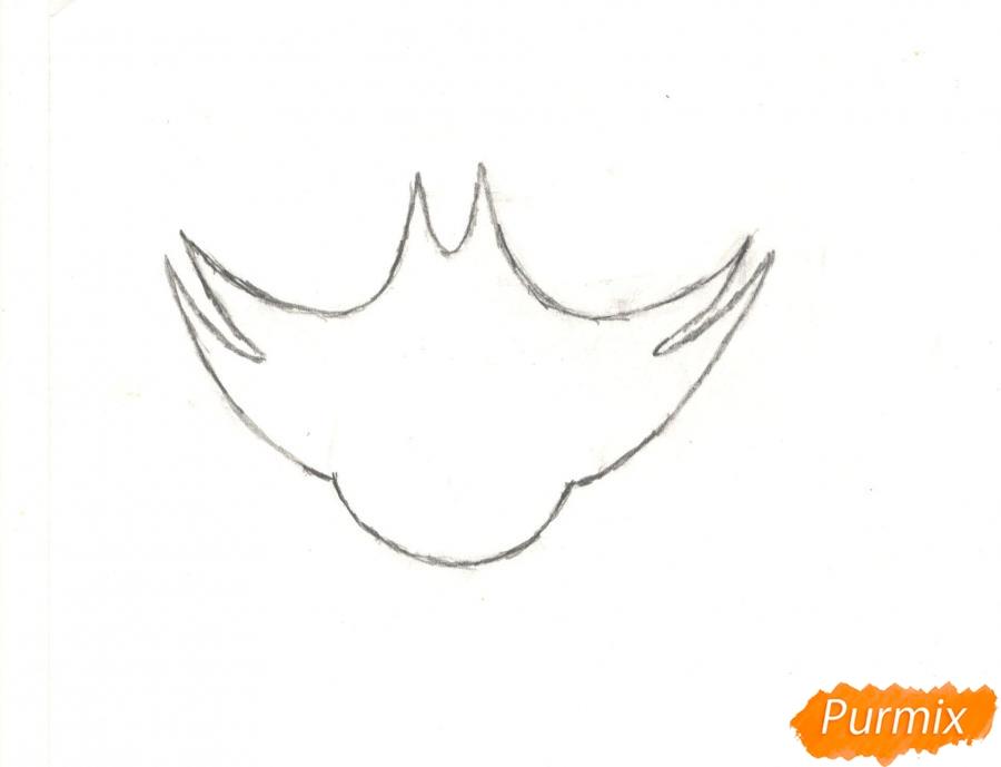 Рисуем кота Джека из мультисериала Огги и Тараканы карандашами - шаг 1