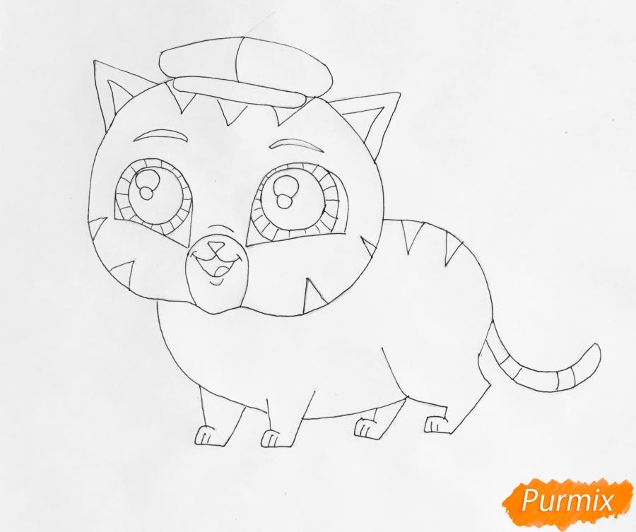 Рисуем кота Фаззи из мультфильма My Littlest Pet Shop - шаг 5