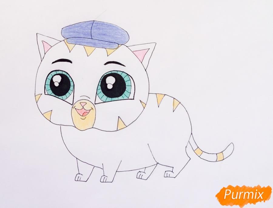 Рисуем кота Фаззи из мультфильма My Littlest Pet Shop - шаг 6