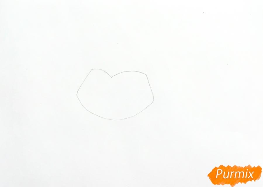 Рисуем кролика Fluffy (Флаффи) из мультфильма My Littlest Pet Shop - шаг 1