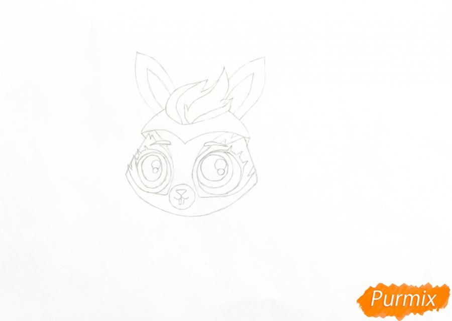 Рисуем кролика Fluffy (Флаффи) из мультфильма My Littlest Pet Shop - шаг 3