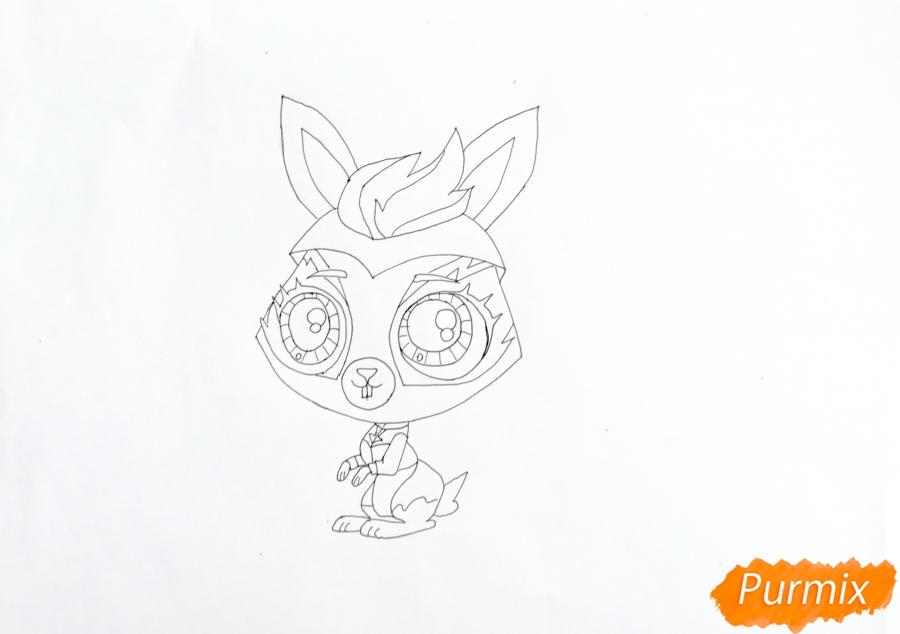 Рисуем кролика Fluffy (Флаффи) из мультфильма My Littlest Pet Shop - шаг 5