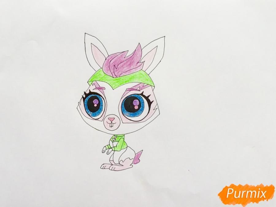 Рисуем кролика Fluffy (Флаффи) из мультфильма My Littlest Pet Shop - шаг 6