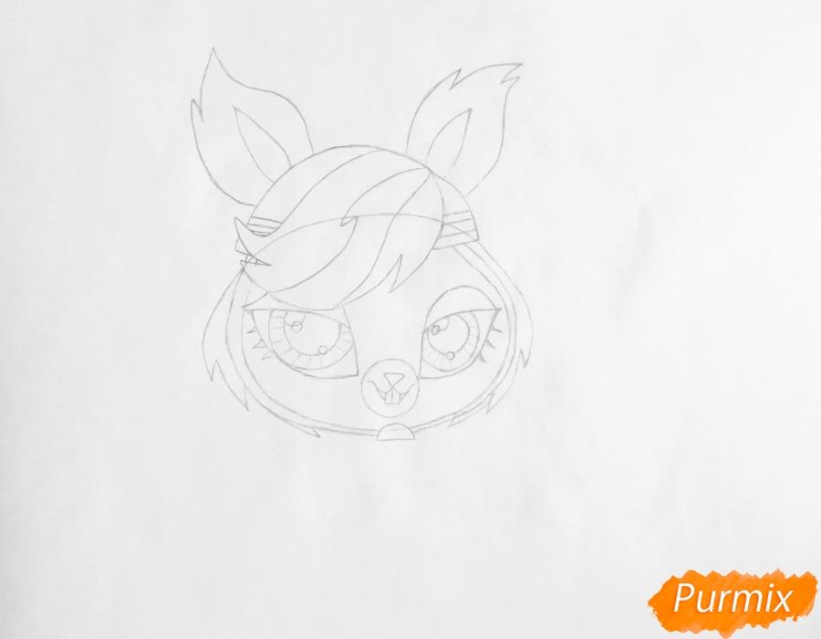 Рисуем кролика Фурри Фури из мультфильма My Littlest Pet Shop - шаг 3