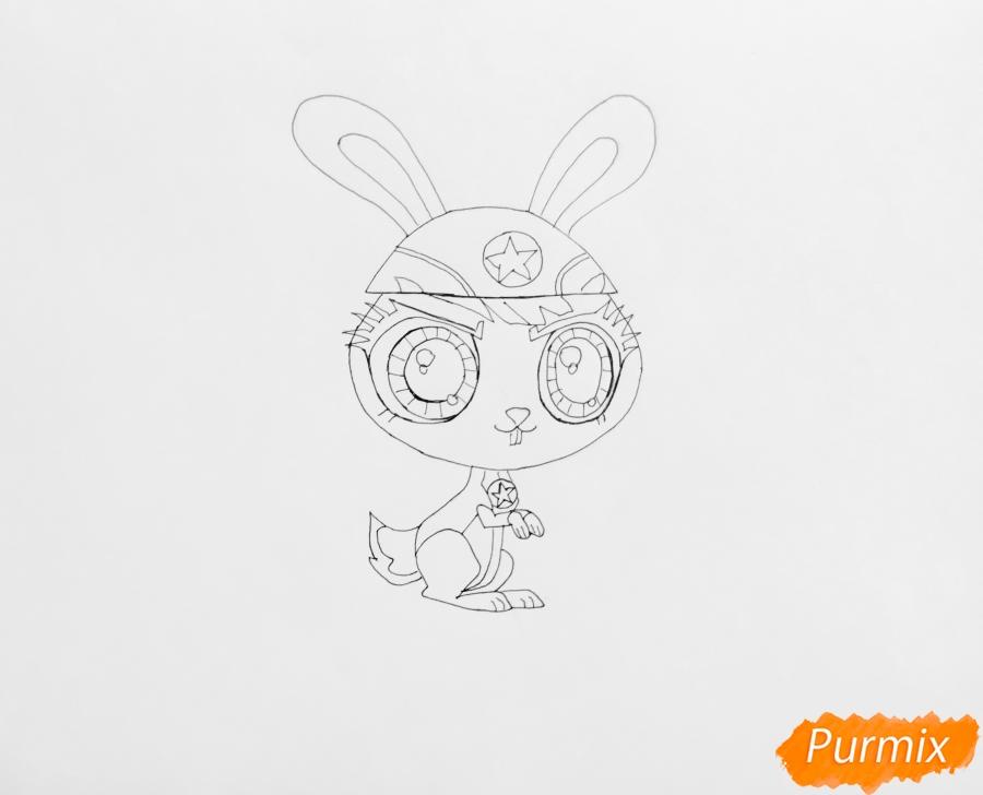 Рисуем кролика Quicksty (Квиксти) из LPS - шаг 5