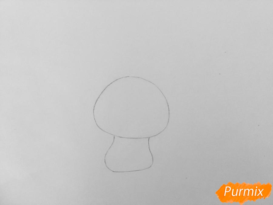 Рисуем кролика Снежка из мультфильма Тайная жизнь домашних животных - шаг 2