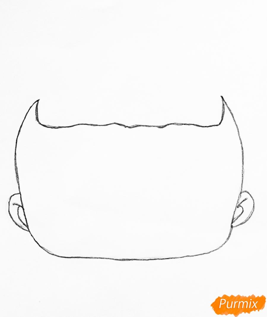 Рисуем куклу Лол с обручем в стиле Единорога карандашами - шаг 1