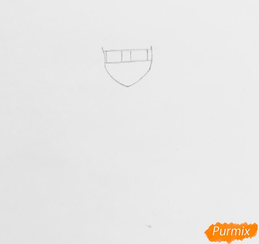 Рисуем Леди Баг из мультфильма Леди Баг и Супер Кот - шаг 1